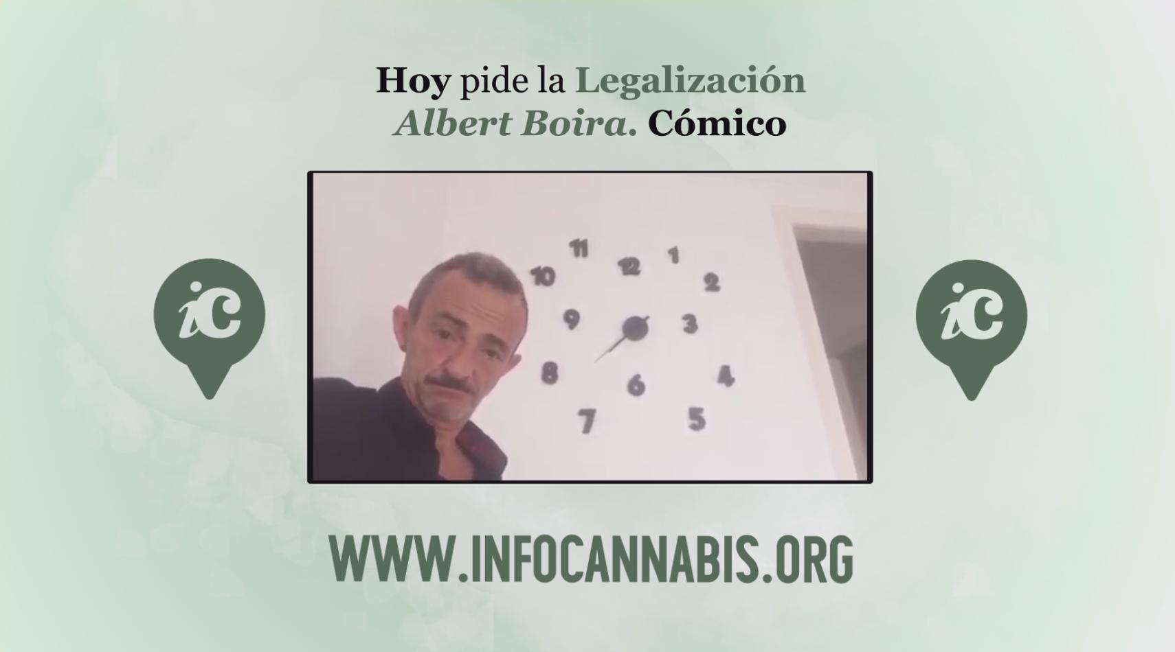 Vídeo. Hoy pide la legalización... Albert Boira, Cómico. 1