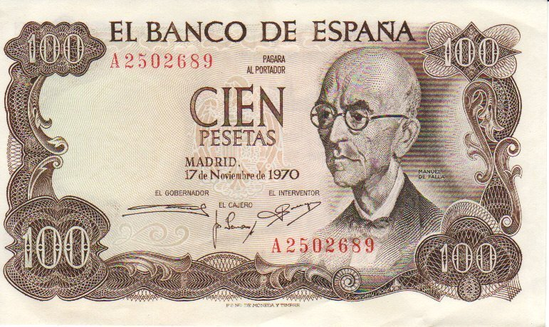 Spain franco bank notes 0009
